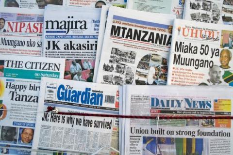 "TANZANIE:-""Fake News""-: Un journaliste arrêté"